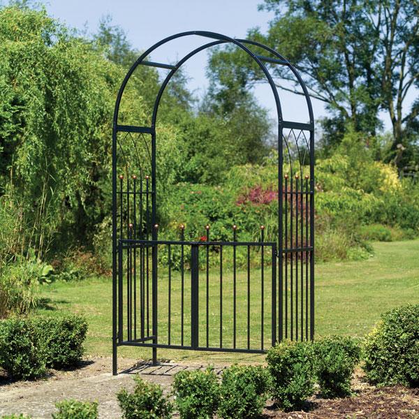 York Garden Centre Black Metal Garden Rose Arches