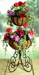 Heavy Duty Metal Garden Planter (Two Tier Urn)