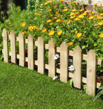 Fixed wood picket edging (1m x 0.40m)