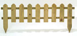 Wooden Picket Fence Lawn Edging